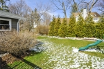 Big Fenced Back Yard With Play Set
