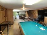 Basement room 4pool table