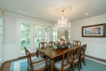 Formal Dining Room with French doors to rear Patio