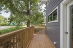Deck off of master bedroom.