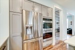 Stainless steel appliances include wall oven