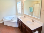 Masterbath with large bath and walk in shower