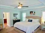 Master bedroom with trey ceilings