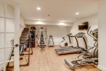Exercise room in basement