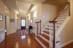Beautiful wainscoting in the foyer