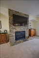 Ledgestone Wall Fireplace