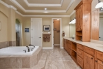 Mstr bath - large soaking tub  Greek style shower