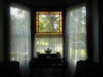 Ward parlor bay window lace curtains