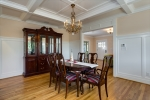Formal Dining Room wCoffered Ceilings