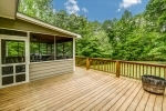 Enjoy sunny days on the rear open deck