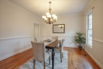 Formal dining room with chair rail