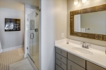 Owners bathroom with dual vanities
