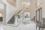 Marble floors throughout downstairs