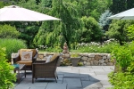 Bluestone Patio  Stone Wall