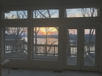 great room sunset view