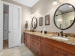 Master Bathroom w Double Sinks