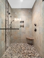 Oversized Master Shower-Designer-Tile Double Sink