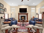 Vaulted Great Room w Vented Gas Fireplace