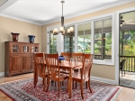 Bright Dining Room with Deck Access