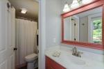 Separate vanity area outside of ensuite bathroom