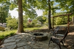 Stone patio and firepit perfect for entertaining