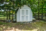 Shed for yard equipment