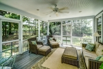 Bring the outdoors in on the screened porch