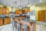 Gourmet custom kitchen with granite counters