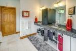 Dual vanities and separate water closet