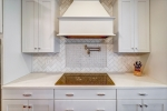 Gleaming tile backsplash
