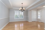 Large dining room off of the foyer