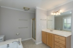Spacious master bathroom w two separate vanities