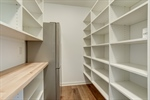 Huge walk in pantry off kitchen - sample finishes