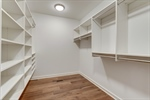 All closets come with custom organizers