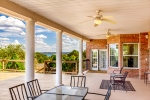 Spacious Covered Back Patio  Deck w Lake View