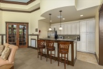 Convenient kitchen making entertaining a breeze.