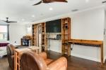 Built in Shelves And Desk In Master Bedroom