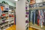 Walk in closet is organizers dream!