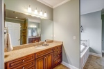 Owners suite with double vanities