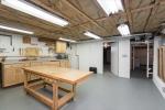 Workshop with double door to garage