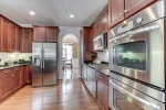 Stainless appliances include double oven