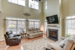 Soaring two story great room