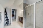 Separate shower in owners bathroom