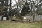 Backyard is fully fenced