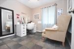 Bedroomoffice with tile floor
