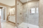 Beautiful tile detailing in large shower