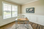 Office or study with wainscoting details