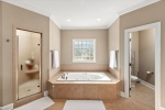 Jetted tub in the master bathroom