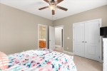 Bedrooms have large closets