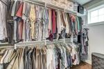 Huge walk in closet in Owners suite